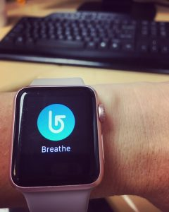 My watch tells me to breathe. One of the ways in which I'm Regular, Real Me