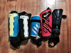 Several in my unmatched shin guard collection '17. Just 1 of the 16 Things Soccer Moms Agree On