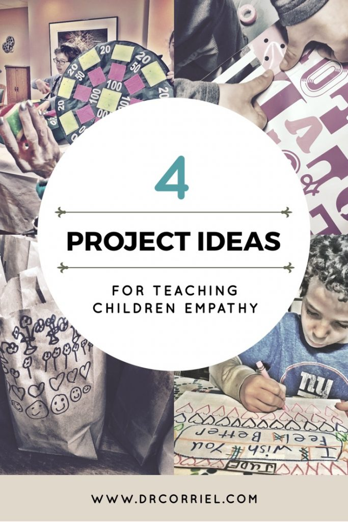 4 project ideas for helping children learn empathy- from making meals to for the homeless to delivering cards to hospitalized kids, here are some inspirational ideas