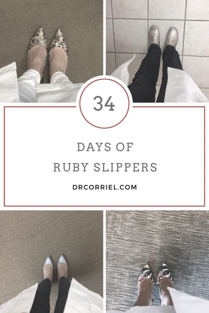 34 days of Ruby Slippers Challenge: a challenge to look down and remember how sweet home really is.