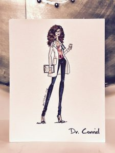 Dr. Corriel, a handmade image- you can have one in your own image by participating in the Ruby Slippers Challenge!